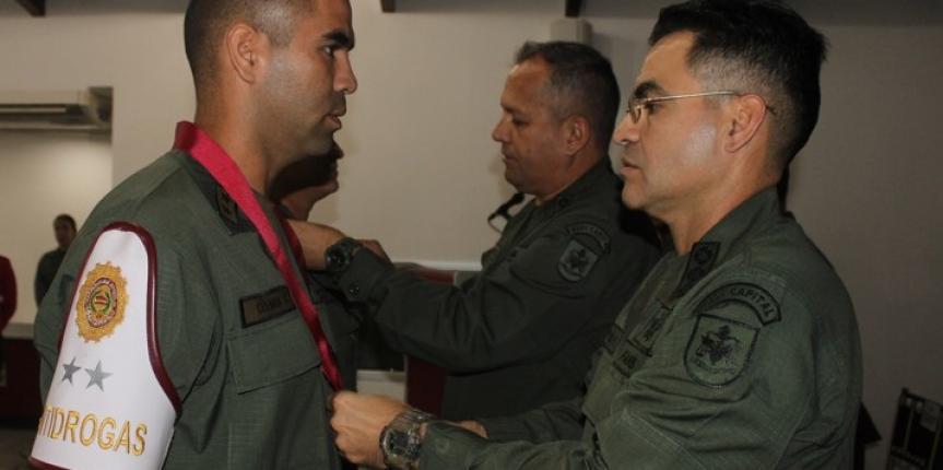 Comandante General de la GNB condecoró al personal militar que participó en procedimientos relevantes de incautación de Drogas