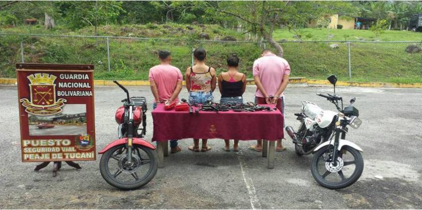 """GNB desmantelo banda """"Pica Motos"""" en el estado Mérida"""