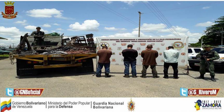 Comando Especial de la GNB incautó 25 toneladas de harina trigo transportadas ilegalmente