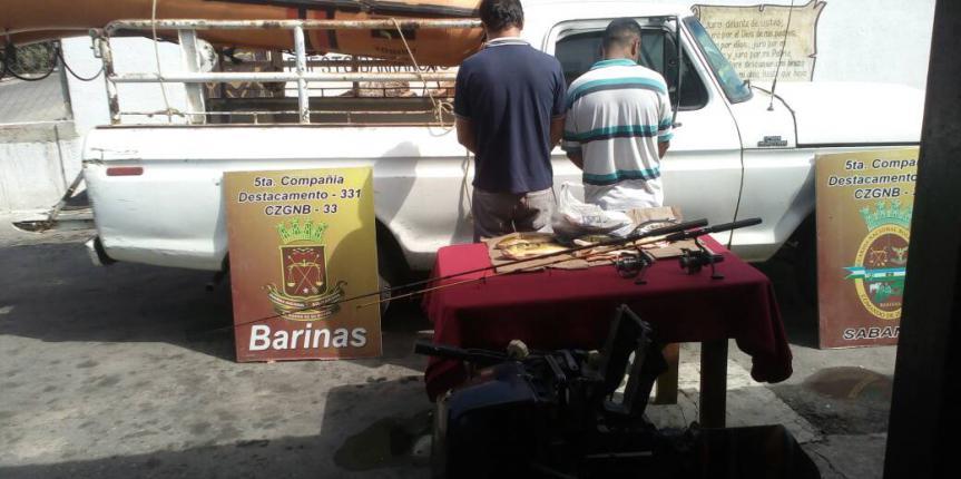 GNB Barinas aprehende a dos ciudadanos en flagrancia por pesca ilícita