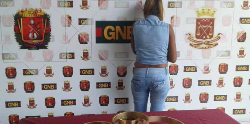 GNB Mérida captura a una ciudadana con 12 kilos de bronce