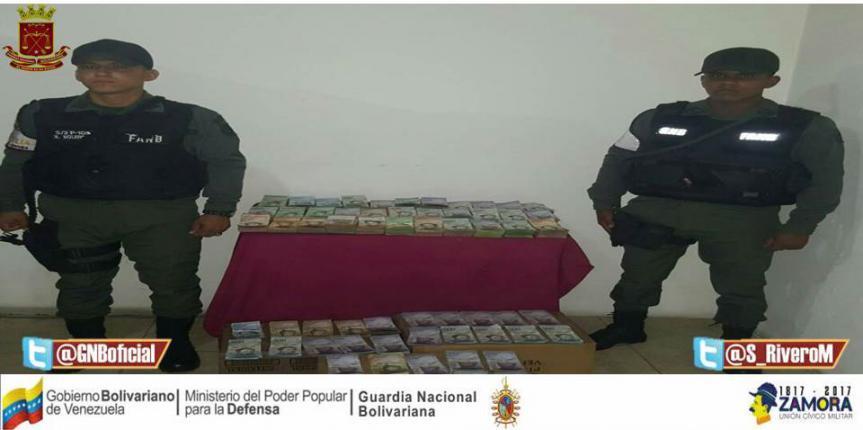 GNB Zulia detuvo comerciante por tener en su poder más de 17 millones de bolívares en efectivos producto del pase de avances