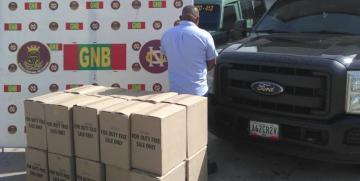 GNB Carabobo detuvo a ciudadano y retuvo vehículo con 20 bultos de Cigarros