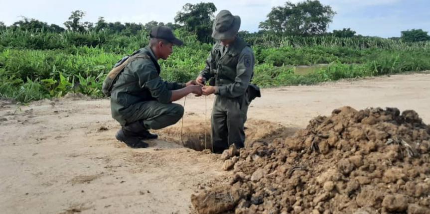 """GNB logra la destrucción de tres pistas no autorizadas a través de la operación """"boquete 2019"""" en el estado Zulia"""
