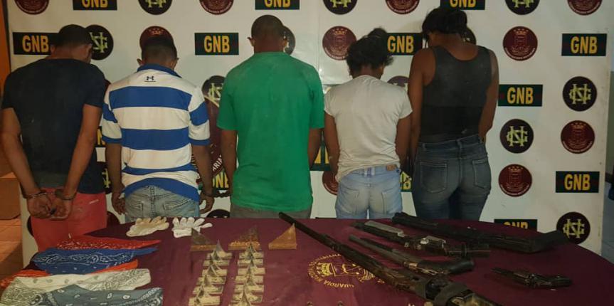 GNB Bolívar desmanteló banda delictiva que azotaba a transeúntes de la Troncal 10
