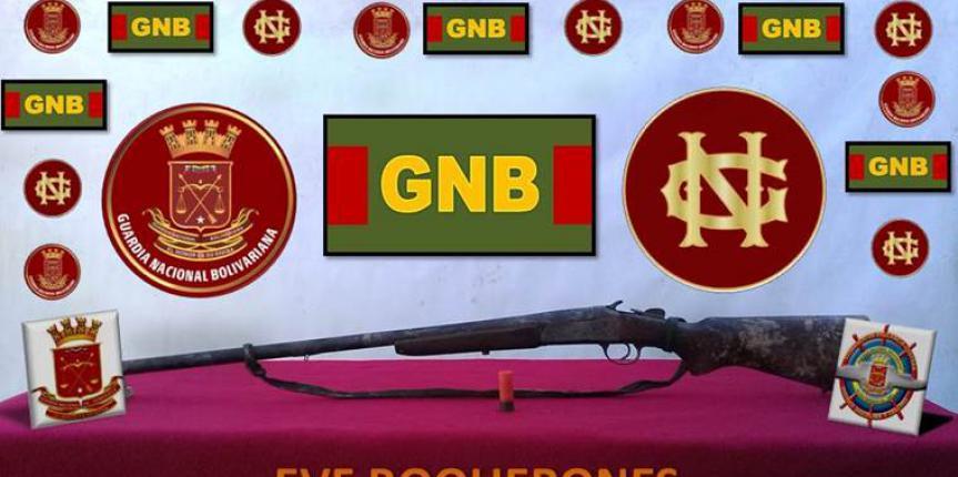 Comando de Vigilancia Costera recupera un arma de fuego tipo escopeta en el estado Apure