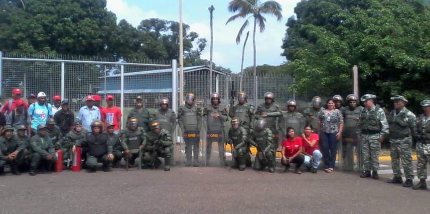 GNB en Anaco imparte instrucción de Orden Público a la Milicia Bolivariana