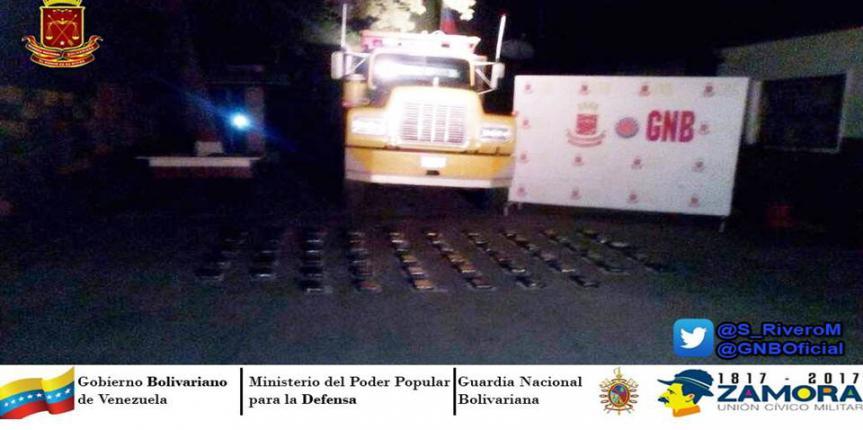 61 kilos de cocaína fueron incautadas por la GNB en el Sur del Lago de Maracaibo