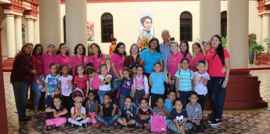Niñas y Niños de la Guardia Nacional Bolivariana conocieron la vida y obra del comandante supremo