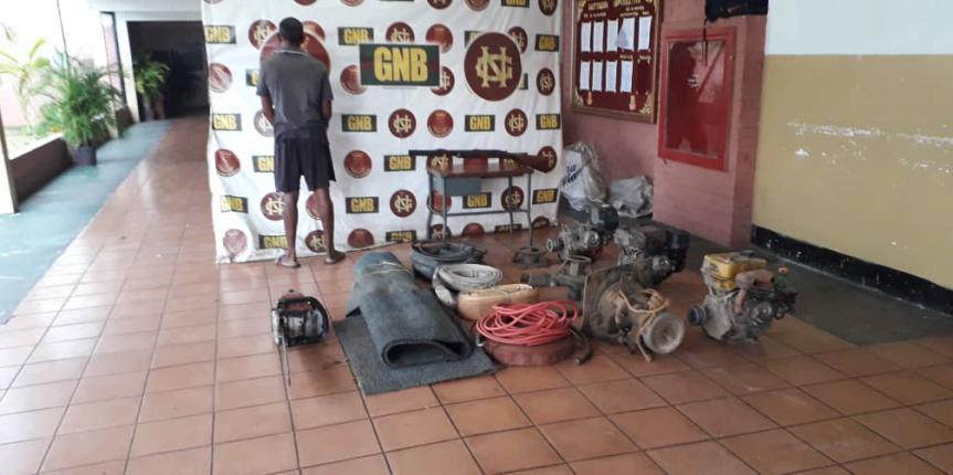 GNB desmanteló campamento minero ilegal en el estado Bolívar