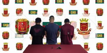 Detenidos por la GNB tres sujetos armados en Anzoátegui