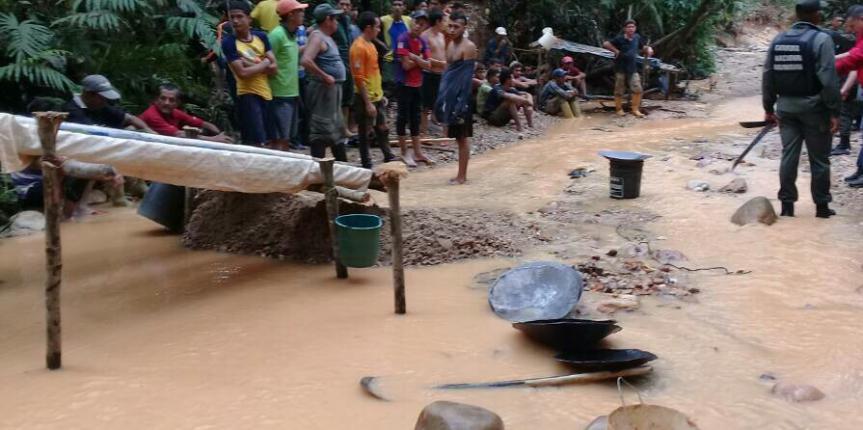 36 detenidos por explotación ilegal de mina  en Táchira