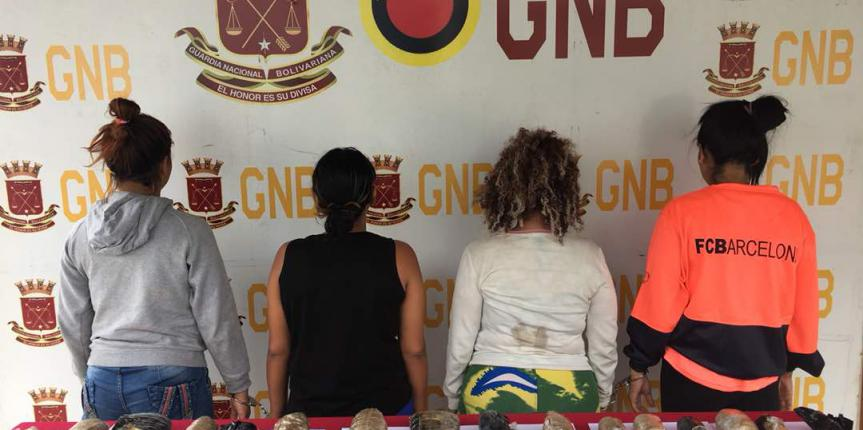 Desmantelada banda de féminas dedicada al tráfico de estupefacientes en Táchira