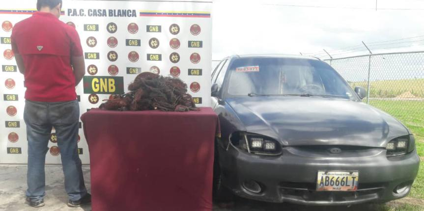 GNB retuvo 132 kilogramos de material estratégico en el estado Bolívar