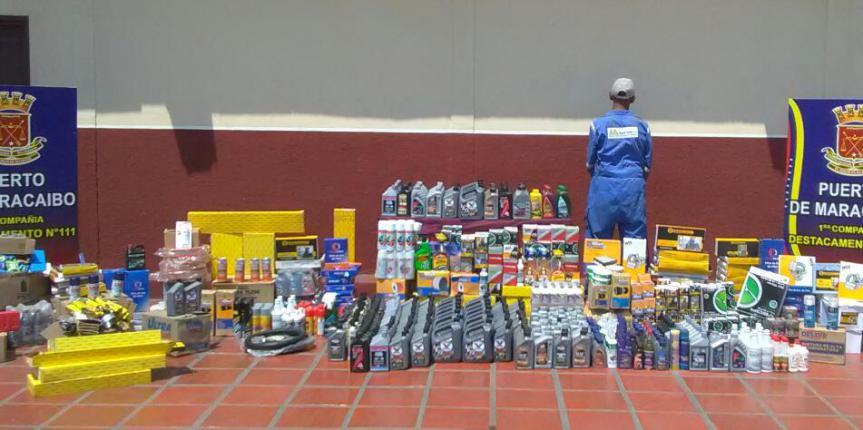GNB Zulia detuvo a ciudadano por acaparamiento y venta clandestina de lubricantes y auto-periquitos
