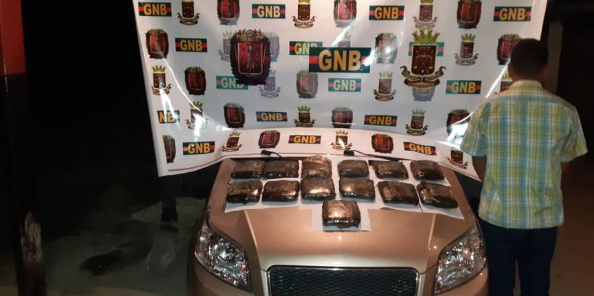 GNB incautó 13 panelas de marihuana en zona oeste de Anzoátegui