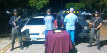 GAES N° 11 Zulia desmantela banda y detiene tres ciudadanos por extorsión