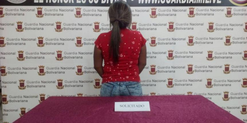 GNB capturó a ciudadana solicitada en el estado Falcón