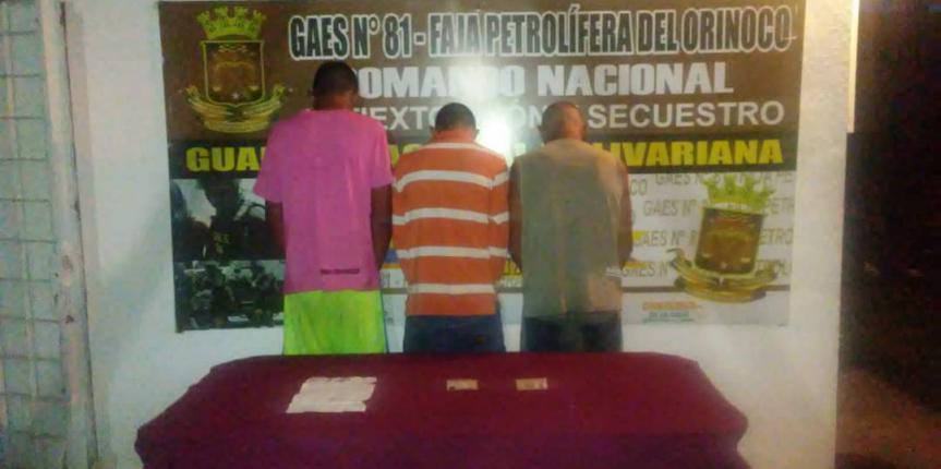 GAES 81 detuvo a integrantes de banda dedicada al abigeato en Cantaura