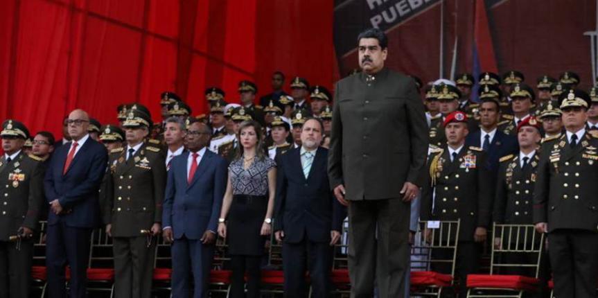 Presidente Nicolás Maduro Moros presidio el Acto de Transmisión de Mando de la Comandancia General de la GNB