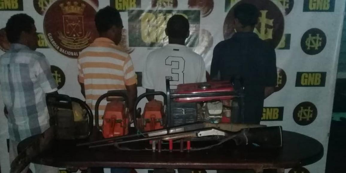 GNB capturó a 4 ciudadanos por abigeato en el estado Bolívar