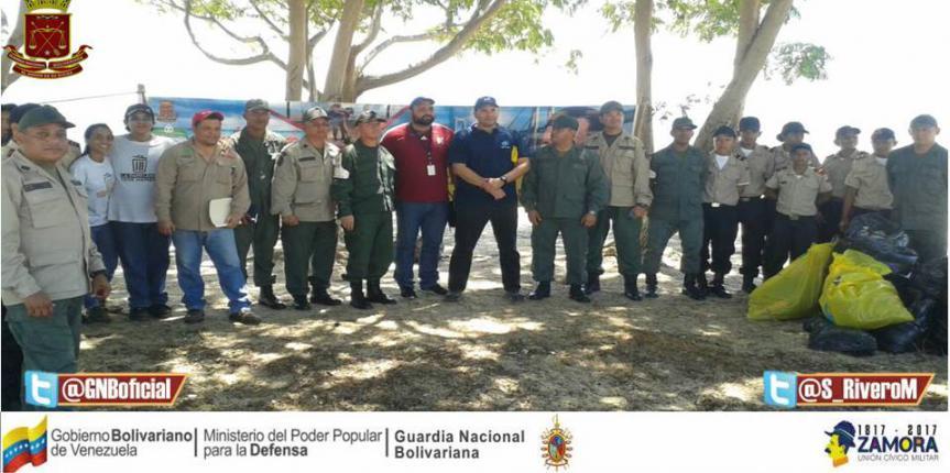 GNB Zulia realizó jornada ambiental en el marco del Día Mundial de Las Playas