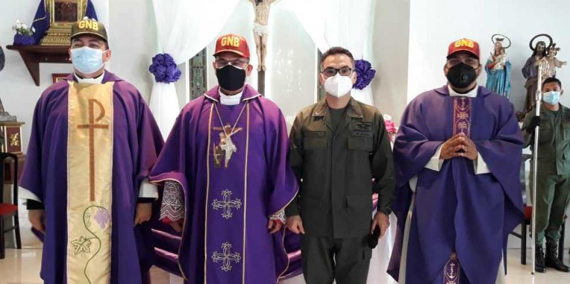 GNB realizó misa de inicio de la Cuaresma
