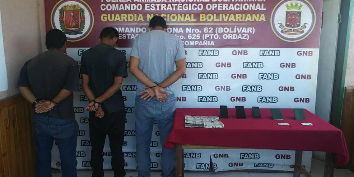 """GNB capturó a integrante de la banda """"Los Brasileros"""" por tráfico de personas en Bolívar"""