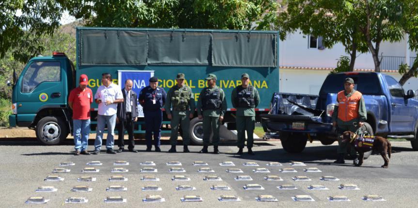 GNB incautó contrabando de 50 panelas de cocaína en el estado Guárico