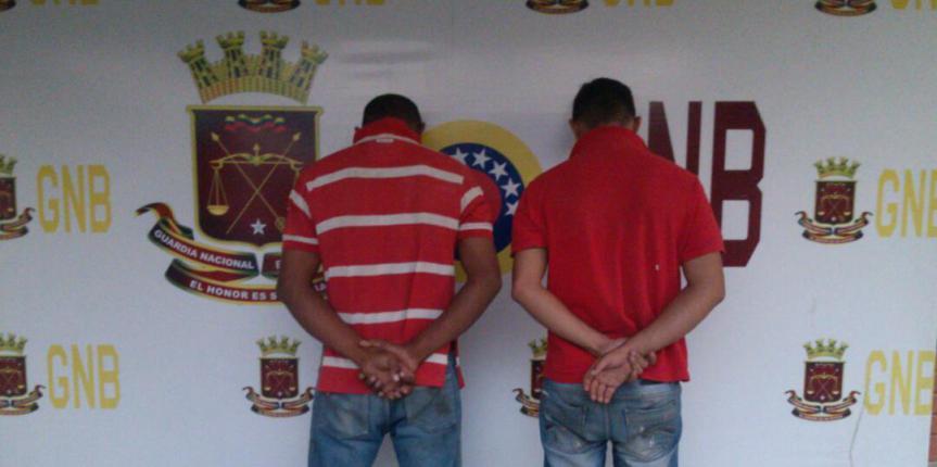 GNB Barinas detuvo a ciudadanos por intento de robo y secuestro