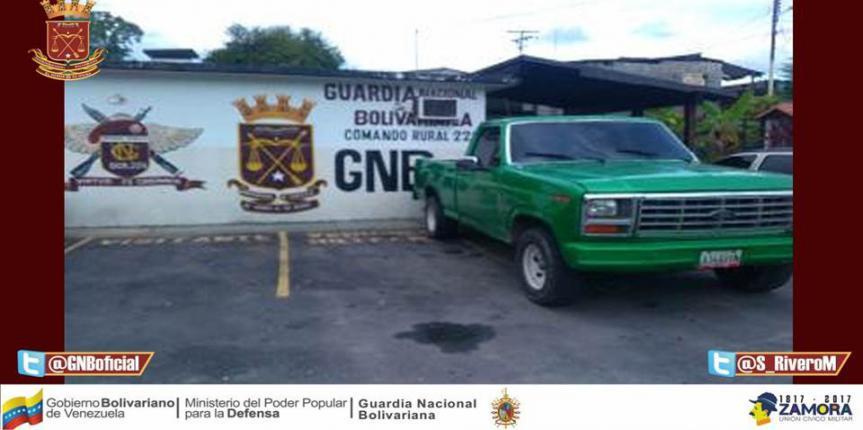 GNB retuvo camioneta con serial de carrocería falsa en Mérida