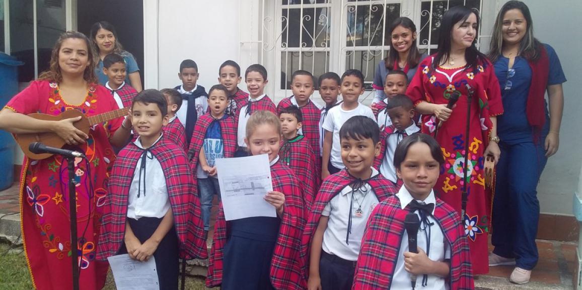 Niñas y niños del CENAIN de la GNB se enorgullecen en pertenecer al intercambio institucional de las unidades educativas especiales
