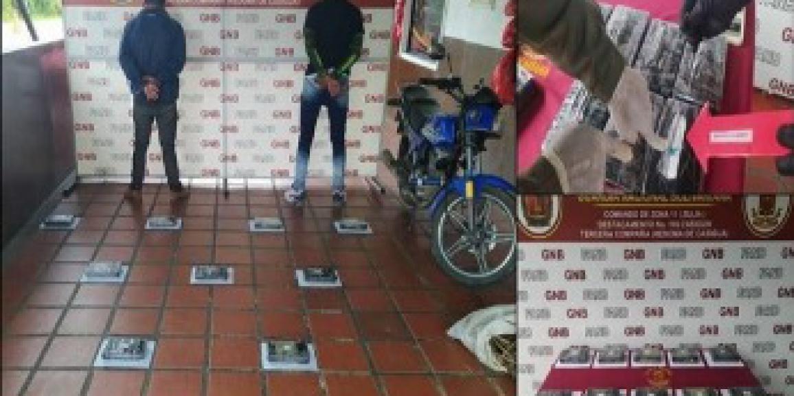 GNB Zulia detiene 2 hombres con paquetes de cocaína envueltas en hojas de palma