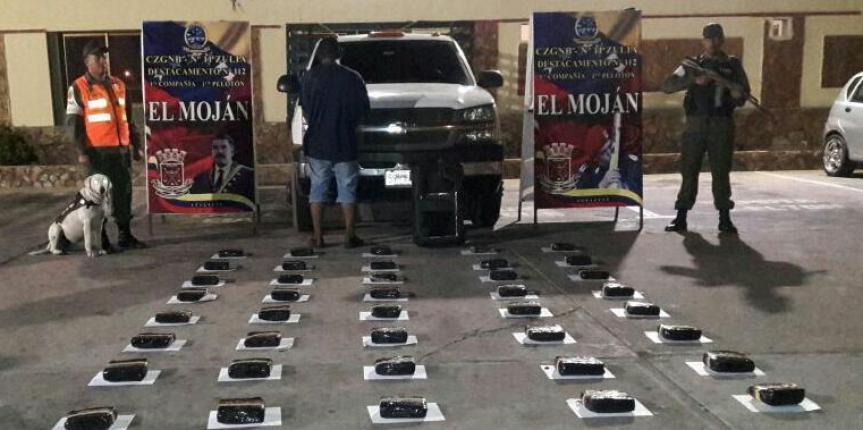 46 panelas de droga fueron incautadas por la GNB en el Río Limón