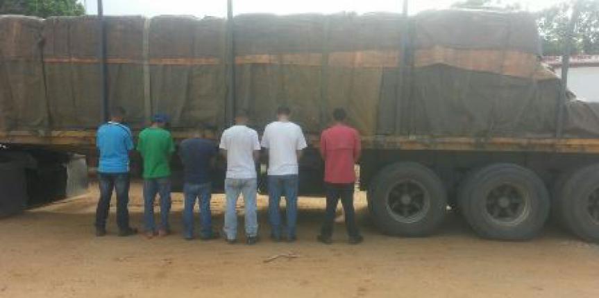 GNB desmanteló banda dedicada al robo y hurto de  vehículos de carga en el estado Anzoategui