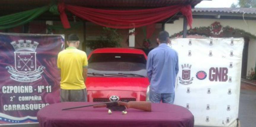 GNB detuvo 2 hombres por robo de vehículos en el estado Zulia