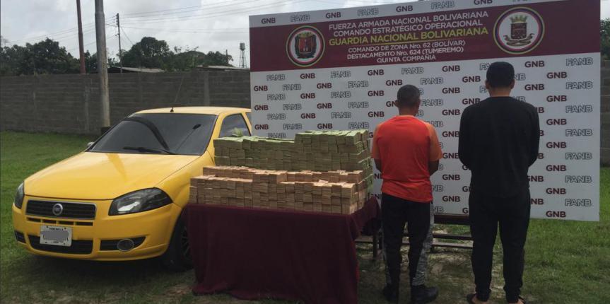 GNB captura a dos sujetos por contrabando y extracción del cono monetario en el estado Bolívar