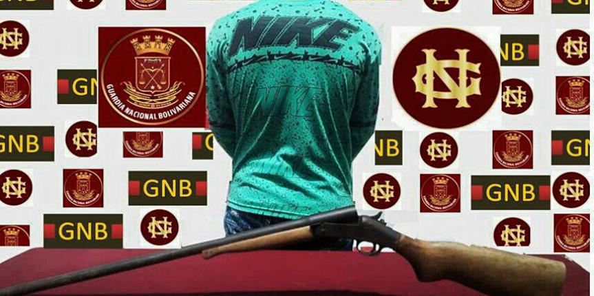 Comando de Vigilancia Costera captura a un ciudadano y retiene una escopeta en el estado Apure