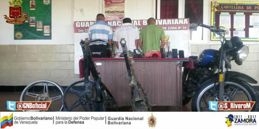 GNB Guárico desarticuló banda cuando perpetraban robo