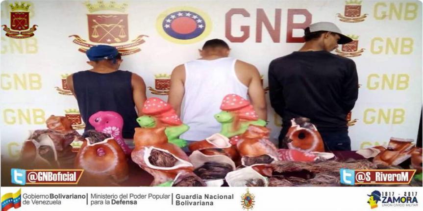 GNB Táchira detuvo a tres personas por contrabando de material estratégico en piezas de cerámica
