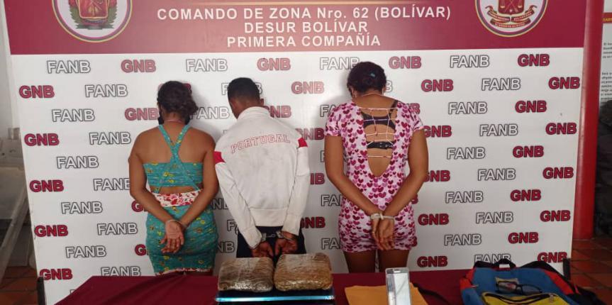 """GNB captura a tres integrantes del G.E.D.O """"Los Pescadores"""" dedicados al tráfico de droga en San Félix"""