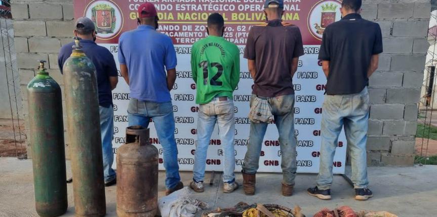 """GNB desarticuló GEDO """"Los Chatarreros"""" en el estado Bolívar"""