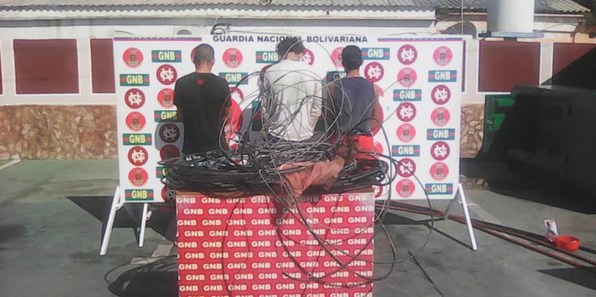 GNB Zulia detuvo a 3 ciudadanos en flagrancia con 85 kilogramos de material estratégico en Almirante Padilla
