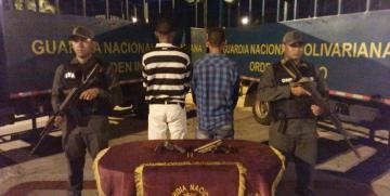GNB arresta a tres ciudadanos por porte ilícito de armas de fuego en el estado Monagas