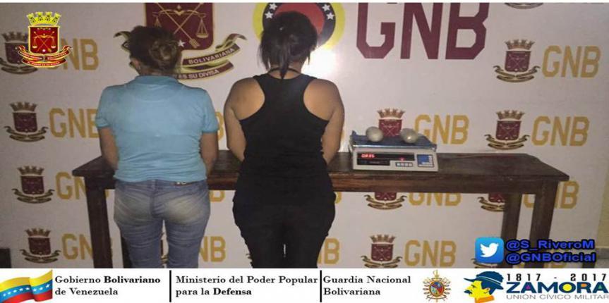 Capturadas dos ciudadanas con droga en el estado Táchira