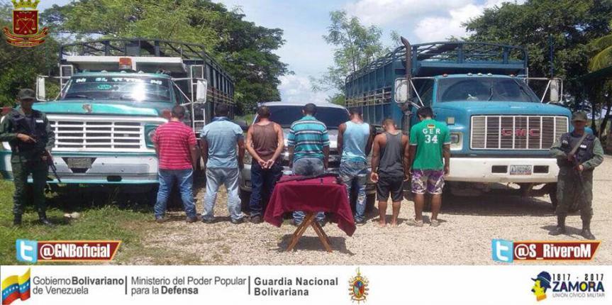 """GNB Barinas desmanteló banda """"Los Oriente"""""""