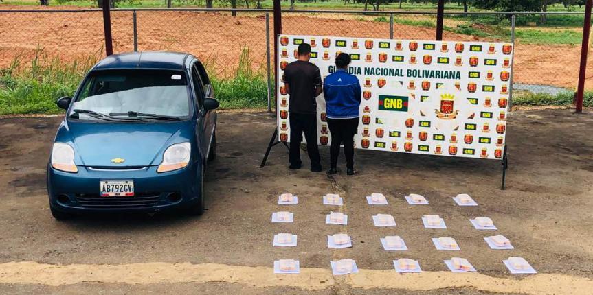 GNB Zulia reporta nueva incautación de 20 panelas de droga