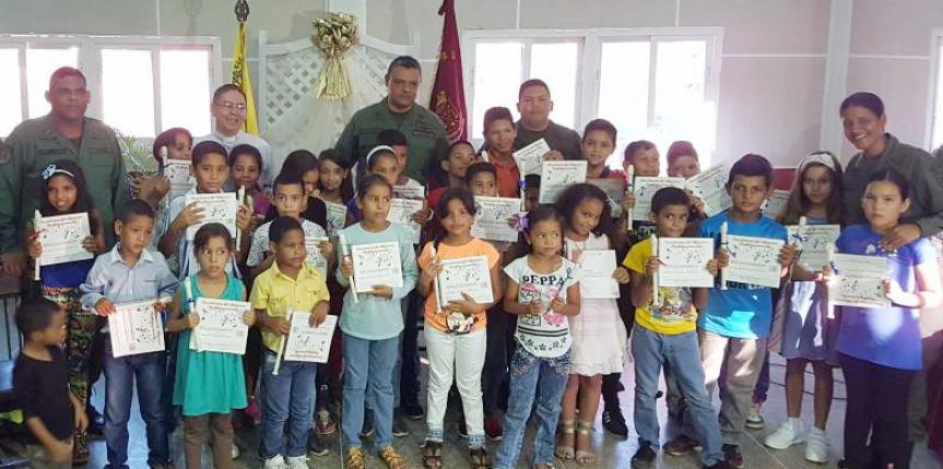 """GNB Falcón realiza bienvenida a niños y niñas a la escuela de formación musical """"Pequeños Centinelas"""""""