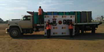 GNB decomisó 15 toneladas de camarones y pulpa de frutas en el Puente sobre el Lago