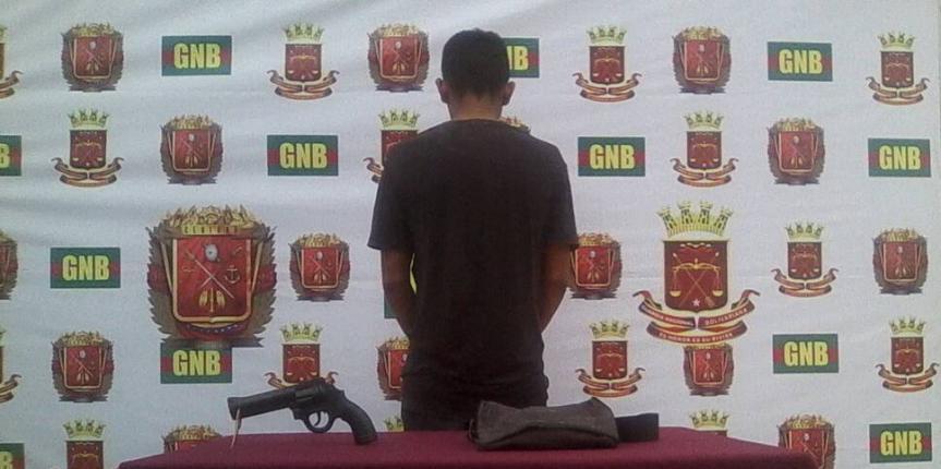Capturado ciudadano por porte ilícito en Guárico